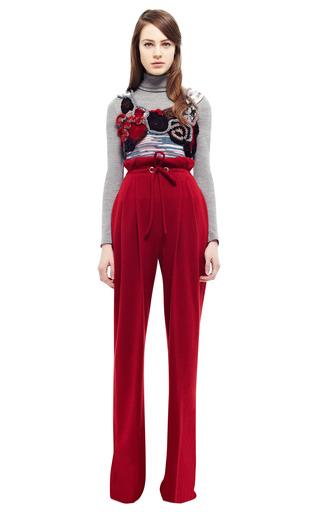 Red Wool Jersey Drawstring Pants by RODARTE for Preorder on Moda Operandi