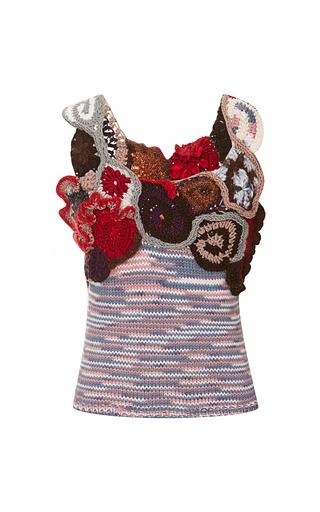Medium rodarte multi free form crochet and hand knit sleeveless sweater
