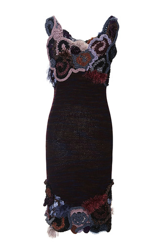 Free Form Crochet And Variegated Knit Dress by RODARTE Now Available on Moda Operandi