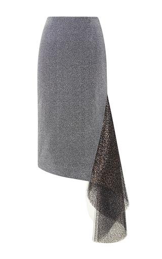 Medium rodarte silver metallic silver and glitter tulle skirt