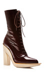 High Heel Shoe Lace Boot by DELPOZO for Preorder on Moda Operandi