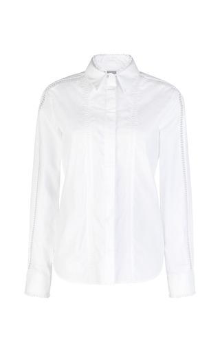 Medium preen white cotton shirting crane shirt 2