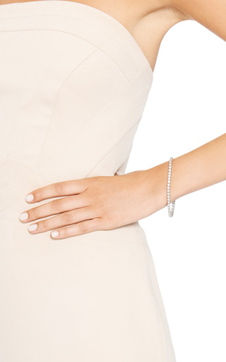 Silver Plated Mini Cube Bracelet by EDDIE BORGO Now Available on Moda Operandi