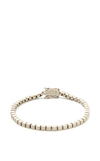Medium eddie borgo dark grey mini cube bracelet