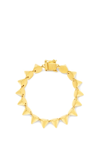 Brushed Gold Plated Small Cone Bracelet by EDDIE BORGO Now Available on Moda Operandi