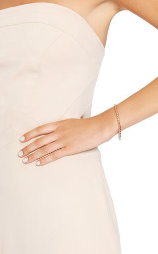 Rose Gold Plated Pyramid Bracelet by EDDIE BORGO Now Available on Moda Operandi