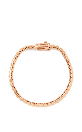 Rose Gold Plated Pyramid Bracelet by EDDIE BORGO Now Available on Moda Operandi