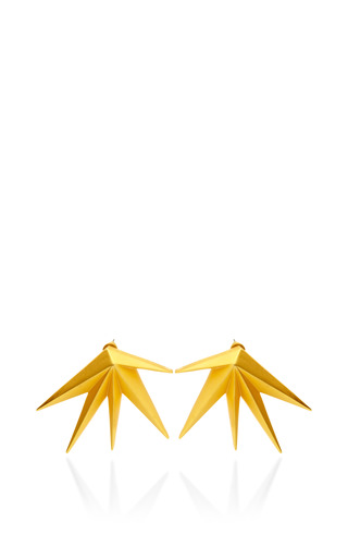 Cyprus Brushed Gold Plated Earrings by EDDIE BORGO Now Available on Moda Operandi