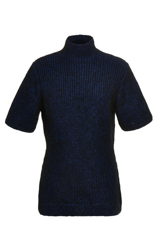 Medium opening ceremony multi mohair knit short sleeve turtleneck
