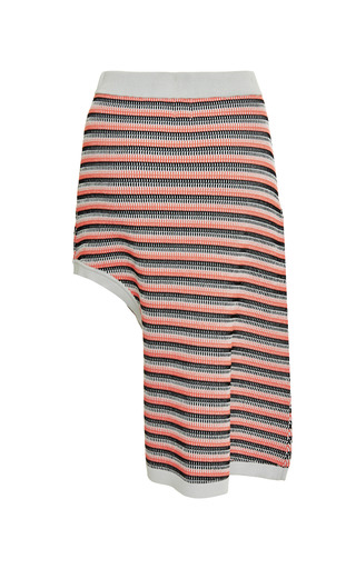 Microcable Stripe Side Drape Skirt by OPENING CEREMONY for Preorder on Moda Operandi