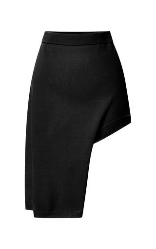 Medium opening ceremony black black solid side drape skirt