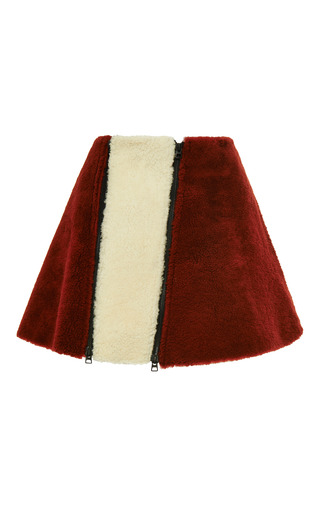 Medium opening ceremony multi sofie shearling zipper flare skirt