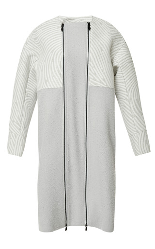 Dimensional Fingerprint Double Zip Long Coat by OPENING CEREMONY for Preorder on Moda Operandi