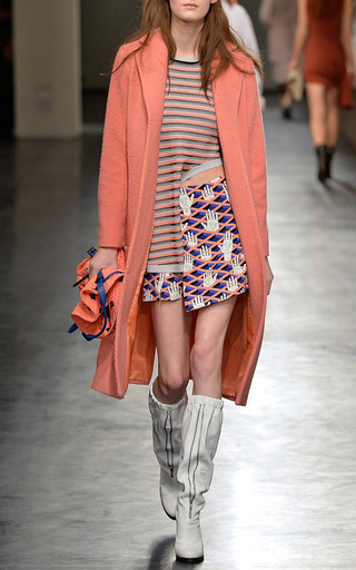 Criss Cross Hands Crepe Wrap Mini Skirt by OPENING CEREMONY for Preorder on Moda Operandi