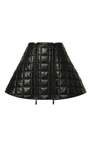Medium opening ceremony black pieter ripstop zipper flare skirt