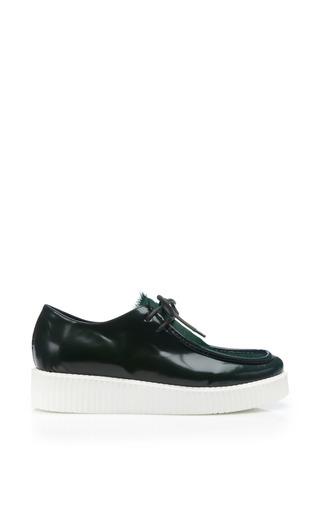 Medium joshua sanders green green pony lace up shoe