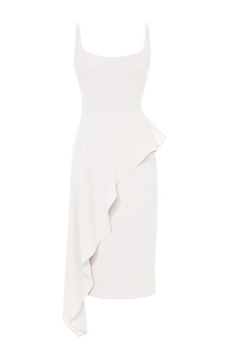 Ruffled Wool Crepe Dress by CUSHNIE ET OCHS Now Available on Moda Operandi