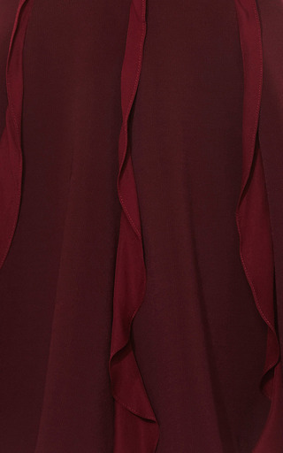Georgette Trimmed Jersey Mini Dress by CUSHNIE ET OCHS Now Available on Moda Operandi