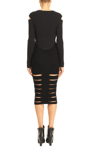 Cut Out Rib Kit Skirt by CUSHNIE ET OCHS Now Available on Moda Operandi