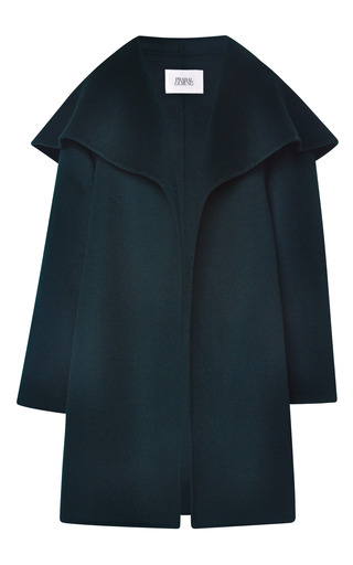 Medium prabal gurung green doubleface cashmere opera coat
