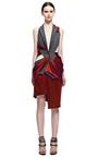 Draped Sleeveless Tuxedo Dress by PRABAL GURUNG for Preorder on Moda Operandi