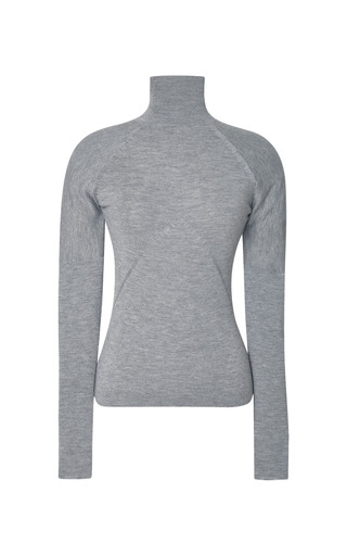 Medium prabal gurung dark grey grey needle rib turtleneck