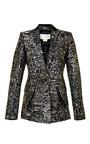 Metallic Effect Brocade Blazer by ANTONIO BERARDI Now Available on Moda Operandi