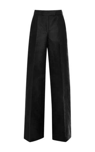 Medium antonio berardi black black silk wideleg pants
