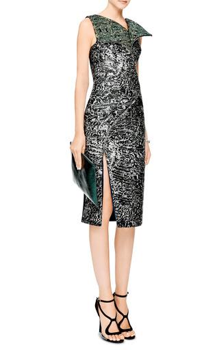 Zipper Detail Jacquard Dress by ANTONIO BERARDI Now Available on Moda Operandi