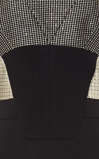 Stretch Crepe And Metallic Jacquard Dress by ANTONIO BERARDI Now Available on Moda Operandi