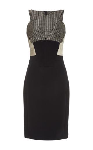 Medium antonio berardi black textured metallic body con dress 2