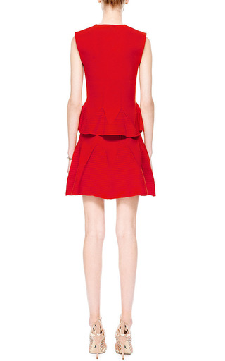 Knit Wool Blend Flared Mini Skirt by ANTONIO BERARDI Now Available on Moda Operandi