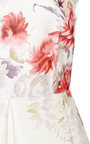 Pleated Floral Print Satin Twill Dress by GIAMBATTISTA VALLI Now Available on Moda Operandi