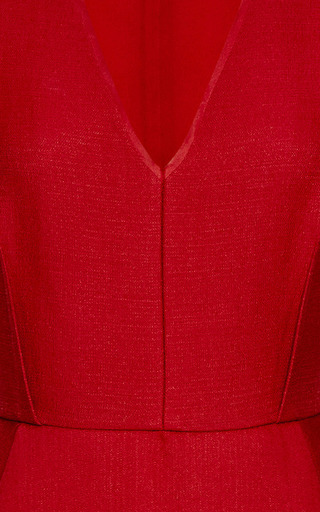 Wool And Silk Blend A Line Dress by GIAMBATTISTA VALLI Now Available on Moda Operandi