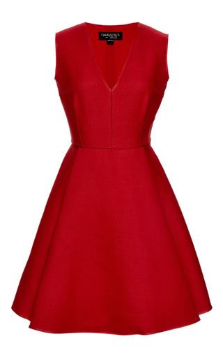 Wool And Silk Blend A Line Dress by GIAMBATTISTA VALLI Now Available on Moda Operandi