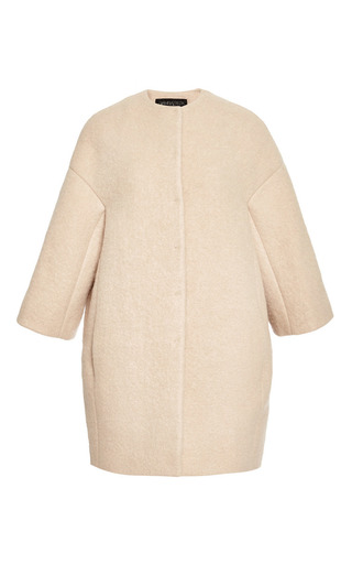 Medium giambattista valli brown collarless coat