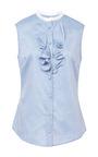 Ruffled Chambray Top by HARVEY FAIRCLOTH Now Available on Moda Operandi