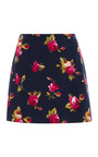 M'o Exclusive: Floral Print Brushed Cotton Skirt by HARVEY FAIRCLOTH Now Available on Moda Operandi