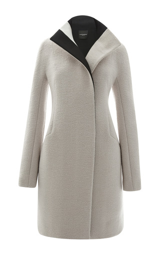 Medium narciso rodriguez brown double face wool coat