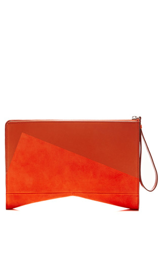 Medium narciso rodriguez orange lygia clutch