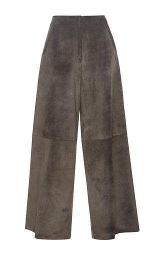 Medium derek lam dark grey suede culottes