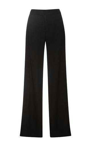 Medium derek lam black liquid crepe tacked wide leg trousers