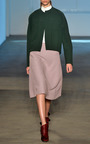 Bonded Wool Twill Rounded Jacket by DEREK LAM for Preorder on Moda Operandi