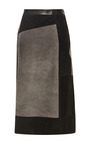 Suede Patchwork Wrap Skirt by DEREK LAM for Preorder on Moda Operandi