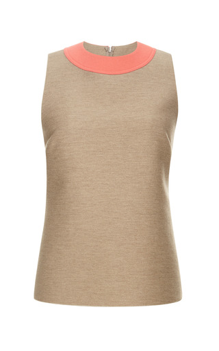 Medium derek lam coral stretch wool jersey sleeveless top