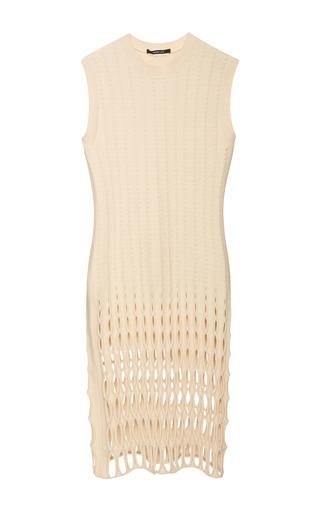 Medium derek lam nude sleeveless felted mesh dress