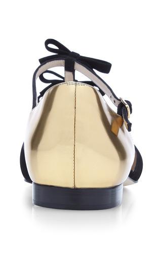 Evelyn Suede Mary Jane Flats by OSCAR DE LA RENTA Now Available on Moda Operandi