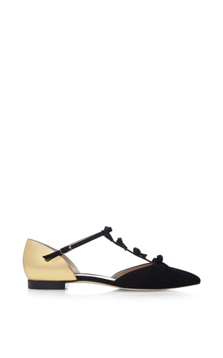 Medium oscar de la renta black evelyn flat