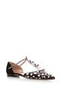 Evelyn Snakeskin And Suede Mary Jane Flats by OSCAR DE LA RENTA Now Available on Moda Operandi