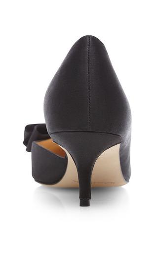 Marla Bow Detail Satin Pumps by OSCAR DE LA RENTA Now Available on Moda Operandi